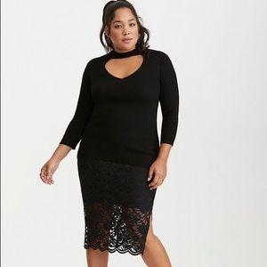 Torrid stretch lace pencil skirt size 3X